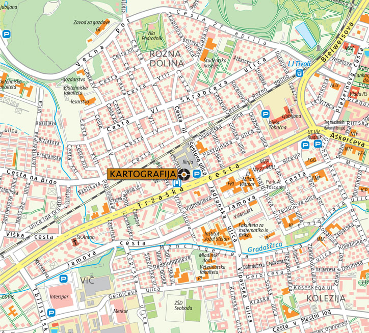 Kartografija - lokacija LJ