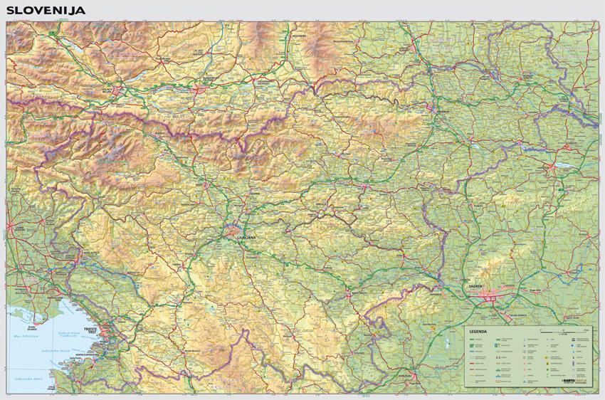 Zemljopisna Karta Slovenije Karta