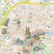 Ljubljana - znamenitosti - tematska karta
