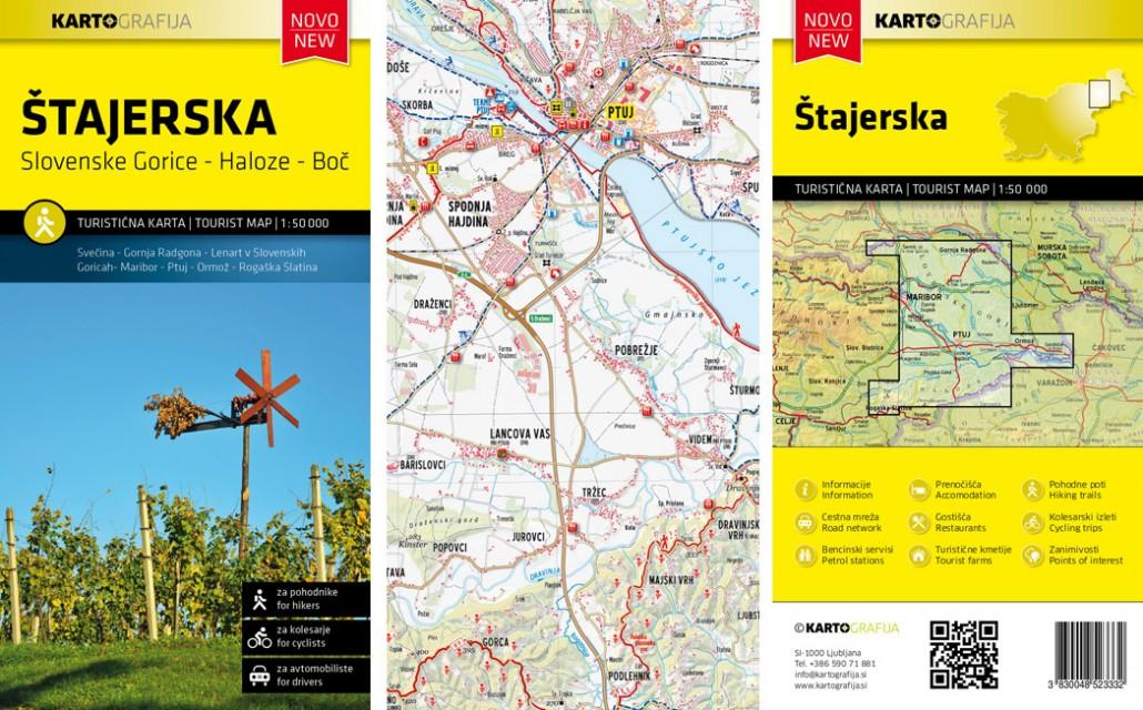 turistična karta Štajerska