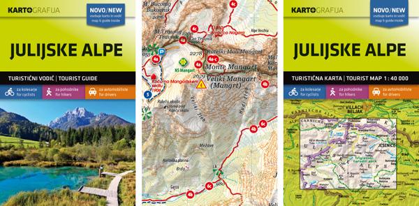 Julijske Alpe 1 : 40 000