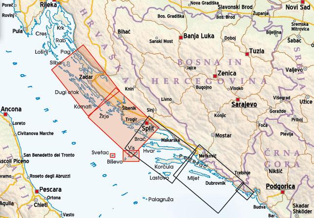 Nov Zemljevid Dalmacija Kartografija D O O