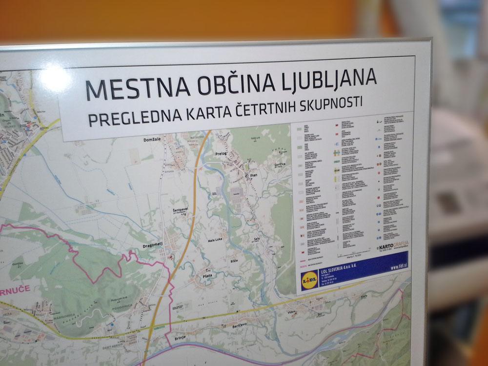 Stenska Karta Lidl Cetrtne Skupnosti Mol Kartografija D O O