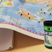 Zemljevid z označevalnimi magnetnimi kroglicami